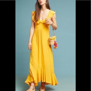 Anthropologie Belle Ruffle Dress